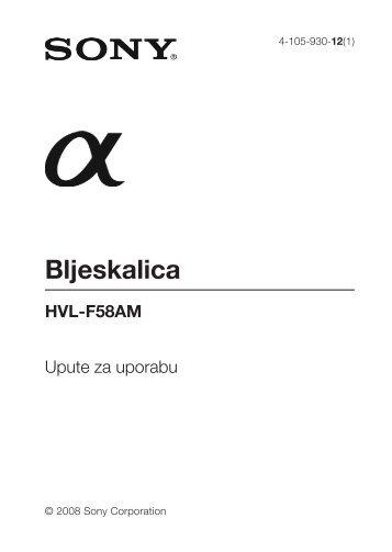 Sony HVL-F58AM - HVL-F58AM Istruzioni per l'uso Croato