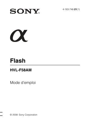 Sony HVL-F58AM - HVL-F58AM Istruzioni per l'uso Francese
