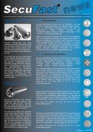 Secufast News 2-01 - SecuFast anti-diefstalschroeven