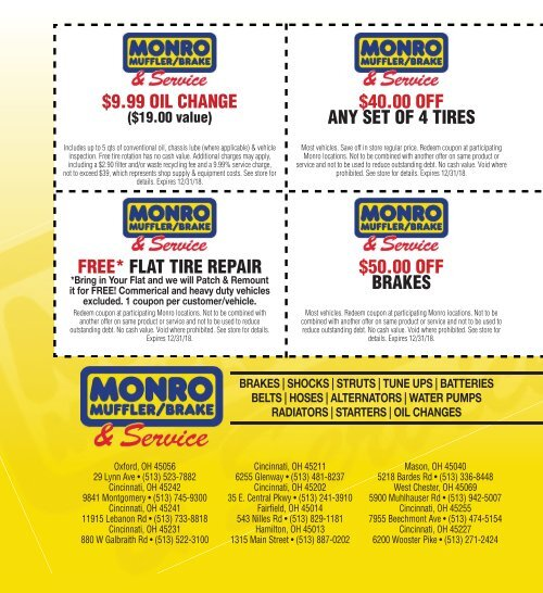 Monro Oil Change Coupon >> Thanks To The Following M