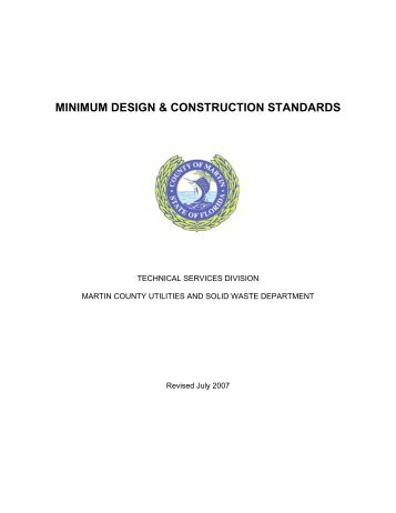 minimum design & construction standards - Martin County, Florida