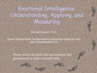 Emotional Intelligence: Understanding, Applying ... - Vision Realization