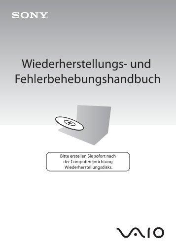 Sony VGN-NW26EG - VGN-NW26EG Guide de dépannage Allemand