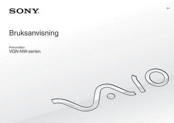Sony VGN-NW26EG - VGN-NW26EG Mode d'emploi Suédois