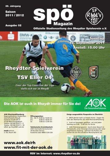 18. September 2011 TSV Eller 04 - beim Rheydter SV