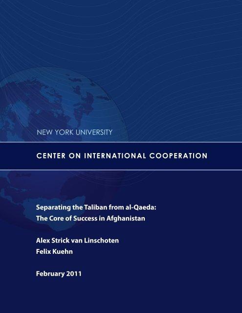 Separating the Taliban from al-Qaeda - Center on International ...