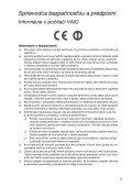 Sony VPCEJ2B4E - VPCEJ2B4E Documents de garantie Slovaque - Page 5