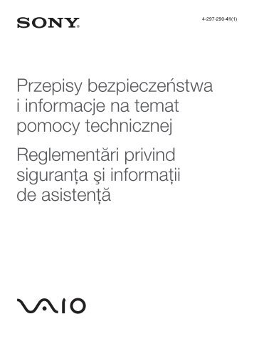 Sony VPCEJ2B4E - VPCEJ2B4E Documents de garantie Roumain