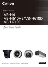 Canon VB-H610VE - VB-H610VE