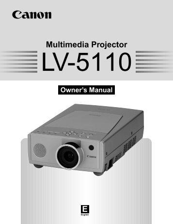 Canon LV-5110 - LV-5110