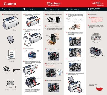 Canon PIXMA i470D - i470D Easy Setup Instructions