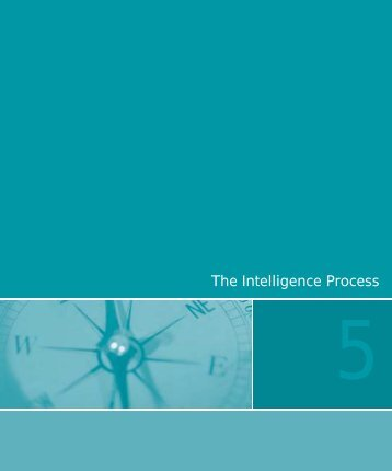 Chapter 5: The Intelligence Process - Cops - Department of Justice
