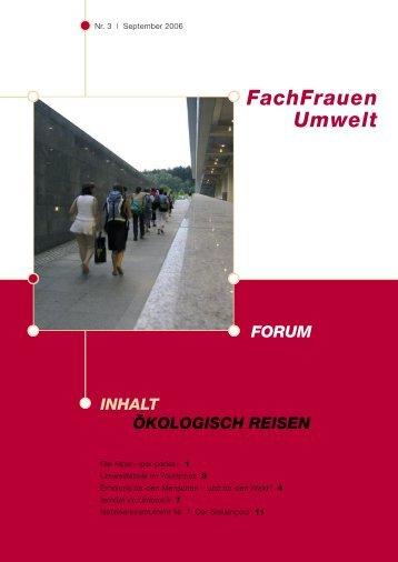 Forum 3 / 2006 - FachFrauen Umwelt