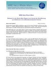 Informationen zum MRE-Netz Rhein-Main - MRE-Rhein-Main