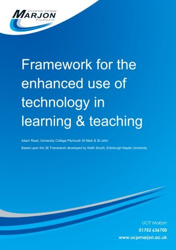 UCP Marjon 3E Framework for e-Learning - The University College ...