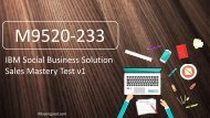 ExamGood M9520-233 IBM Social Business Solution Sales Mastery Test v1 Real Questions