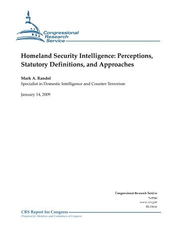 Homeland Security Intelligence - Federation of American Scientists