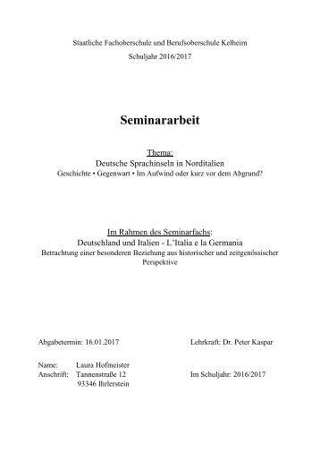 Seminararbeit Laura Hofmeister