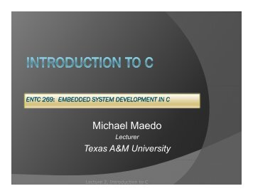 ENTC 269_02_ Introdu.. - Texas A&M University