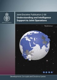 JDP 2-00 3rd Edition Understanding and Intelligence Support to ...