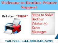 How to fix Brother Unable to Clean 50 Error|+44-800-046-5291