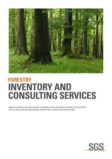 forestry inventory and consulting services - SGS