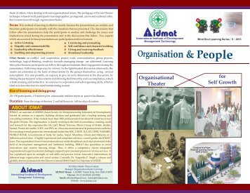 theatre Intervention (Organisation & People)
