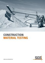 CONSTRUCTION MATERIAL TESTING - SGS