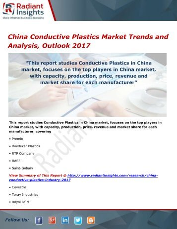 China Conductive Plastics Market Analysis and Outlook 2017