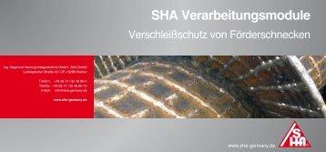 Laden Sie sich hier unseren aktuellen Produktprospekt ... - SHA GmbH