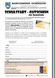 Postwurf Juni II / Marktgemeinde Leobersdorf