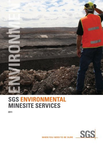 SGS ENVIRONMENTAL MINESITE SERVICES