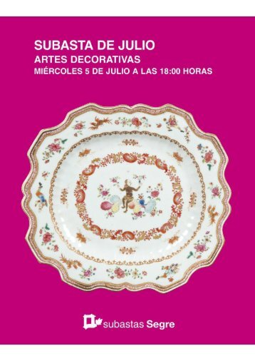 Subasta artes decorativas julio 2017