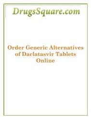 Buy Generic Alternatives of Daclatasvir 60 mg Tablets Online