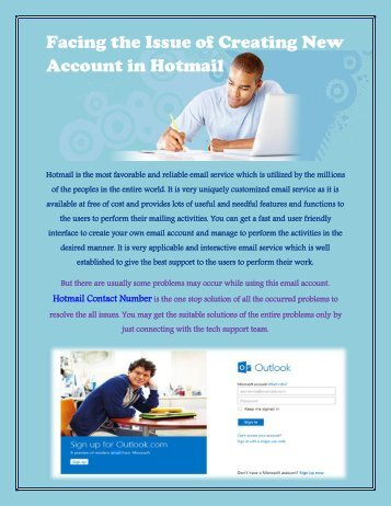 Facing the Issue of Creating New Account in Hotmail