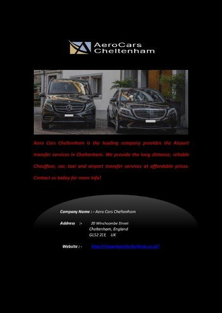 Airport Taxi Cheltenham