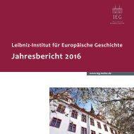 IEG Mainz - Jahresbericht 2016
