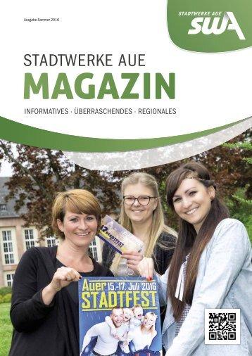 Stadtwerke Aue Magazin - Ausgabe Sommer 2016