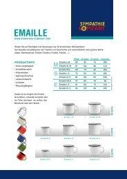 Emaille Tassen von Sympathie Company GmbH