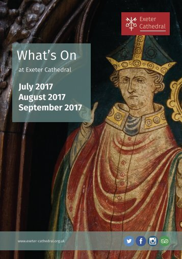 Exeter Cathedral Events: July to September 2017