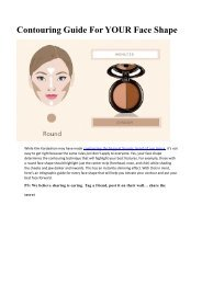 Contouring Guide For YOUR Face Shape