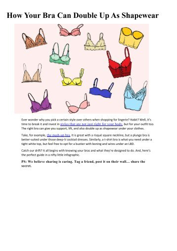 How Your Bra Can Double Up As Shapewear
