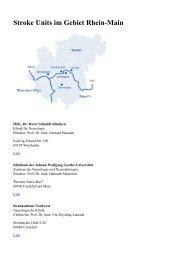 Stroke Units im Gebiet Rhein-Main - Rhein-Main gegen den ...