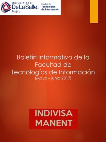 Boletín - Facultad de TI - Mayo-junio 2017