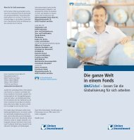 Die ganze Welt in einem Fonds UniGlobal - Union Investment