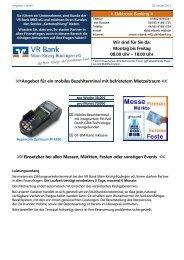 Angebot Messeterminal - VR Bank Main-Kinzig-Büdingen eG