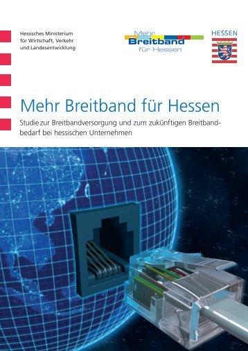 Mehr Breitband für Hessen - Breitband in Hessen