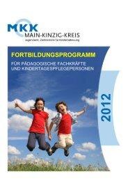 Weiterbildungsangebot 2012 - Mit Kind und Kegel