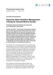 Equinoxe liefert Workflow-Management - York Communications