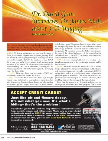 Dr. David Gane interviews Dr. James Mah about 3-D ... - Orbit Imaging